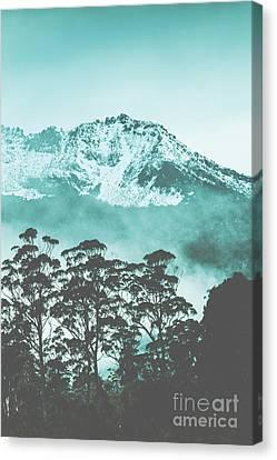 Frosty Canvas Print - Blue Mountain Winter Landscape by Jorgo Photography - Wall Art Gallery