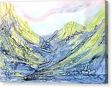 Blue Mountains Alcohol Inks  Canvas Print
