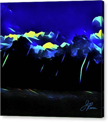 Canvas Print featuring the painting Blue Mountains by Joan Reese