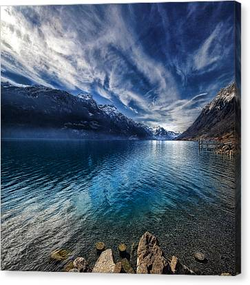 Blue Mountains Canvas Print by Philippe Sainte-Laudy
