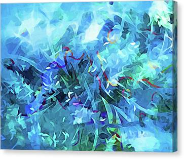 Abstract Expressionism Canvas Print - Blue Movement by Lutz Baar