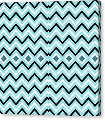 Pattern Canvas Print - Blue Navy by Latex Color Design