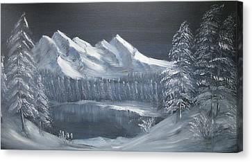 Blue Night Canvas Print by Anthony Meton