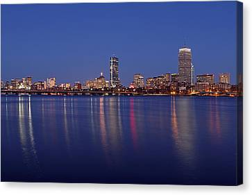 Charles River Canvas Print - Blue Night by Juergen Roth