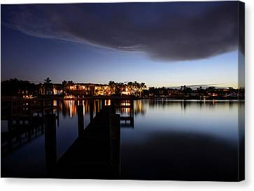 Canvas Print featuring the photograph Blue Night by Laura Fasulo