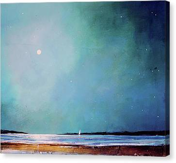 Blue Night Sky Canvas Print by Toni Grote