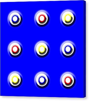 Blue Nine Squared Canvas Print