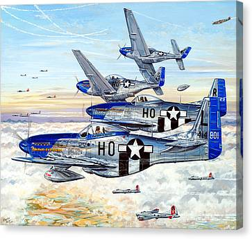 B17 Canvas Print - Blue Nosed Bastards Of Bodney by Charles Taylor
