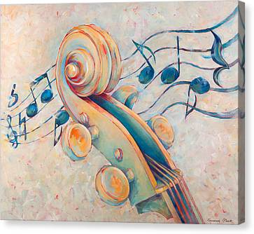 Violin Canvas Print - Blue Notes by Susanne Clark