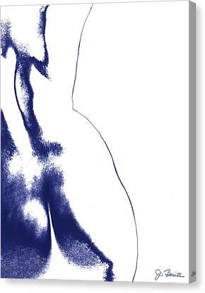 Blue Nude No. 2 Canvas Print by Joe Bonita