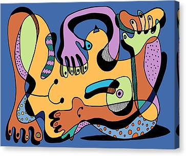 Blue Nude Number Two Canvas Print by Geoff Greene