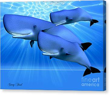 Blue Ocean Canvas Print by Corey Ford