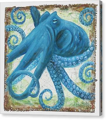 Blue Octo Canvas Print
