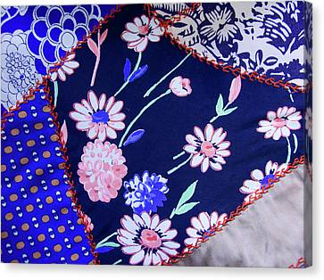 Blue On Blue Canvas Print by Bonnie Bruno