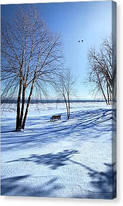 Canvas Print featuring the photograph Blue On Blue by Phil Koch