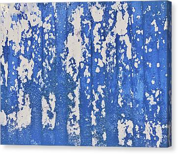 Blue Painted Metal Canvas Print