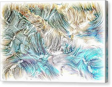 Canvas Print featuring the photograph Blue Palette by Athala Carole Bruckner