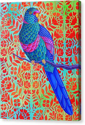 Bold Colors Canvas Print - Blue Parrot by Jane Tattersfield
