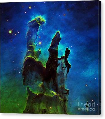Blue Pillars Of Creation Canvas Print