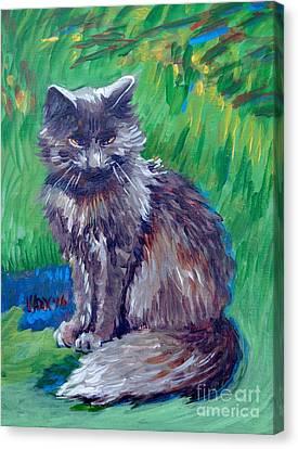 Growling Canvas Print - Blue Points by Vanessa Hadady BFA MA