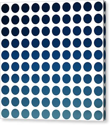 Blue Polka Dots Canvas Print by Art Spectrum