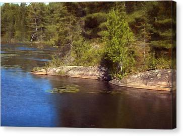 Blue Pond Marsh Canvas Print
