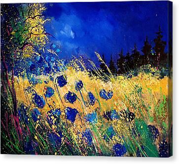 Blue Poppies 459070 Canvas Print by Pol Ledent