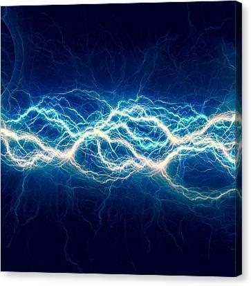 Shock Canvas Print - Blue Power by Martin Capek