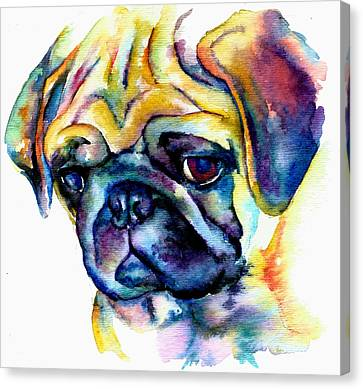 Blue Pug Canvas Print
