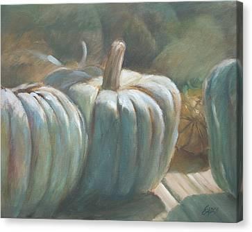 Blue Pumpkins Canvas Print