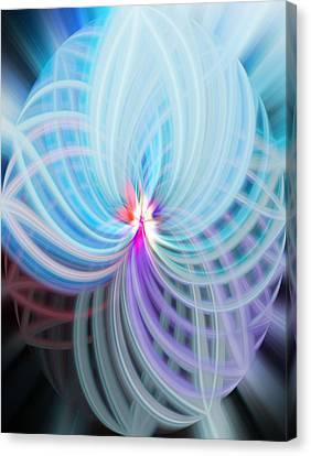 Blue/purple Spere Canvas Print by Cherie Duran