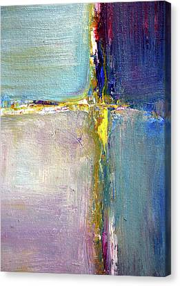 Canvas Print featuring the painting Blue Quarters by Nancy Merkle