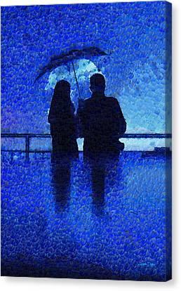 Blue Rain - Da Canvas Print