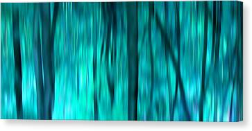 Blue Rain Forest Canvas Print by Lucie Lenzket