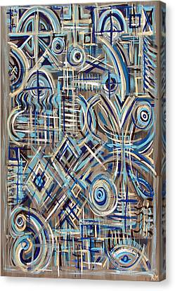 Blue Raucous Canvas Print