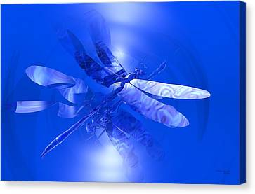 Blue Reflections Dragonfly Canvas Print