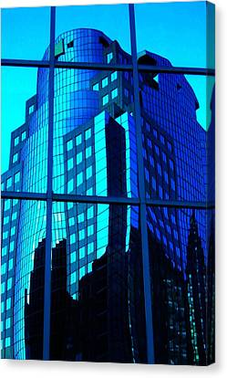 Canvas Print - Blue Reflections ... by Juergen Weiss