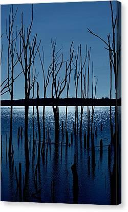 Blue Reservoir - Manasquan Reservoir Canvas Print by Angie Tirado