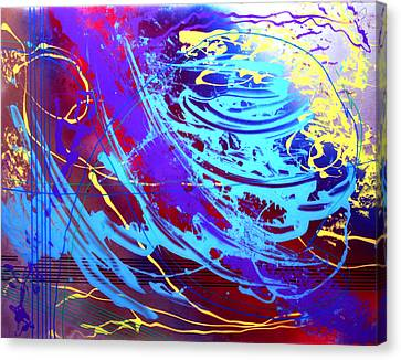 Canvas Print featuring the painting Blue Reverie by Mordecai Colodner