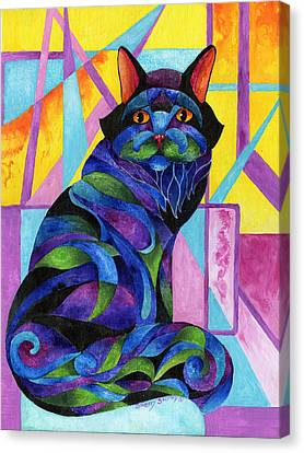 Blue Rhapsody Canvas Print by Sherry Shipley