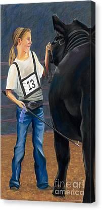 Blue Ribbon Smile Canvas Print by Christian Vandehaar