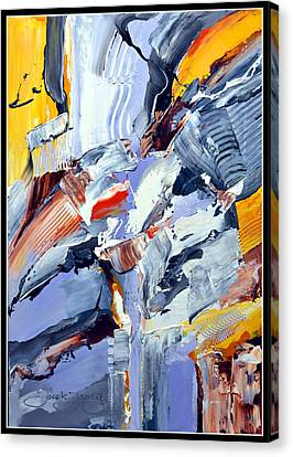 Blue Rider  Canvas Print by Jacek  Ungierat - Jung