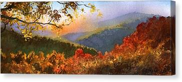 Blue Ridge At Fall Canvas Print by Sergey Zhiboedov