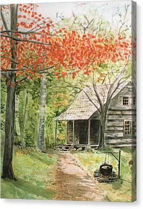 Blue Ridge Cabin Canvas Print