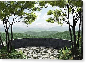 Vista Canvas Print - Blue Ridge by Cynthia Decker