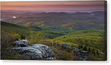 Wilderness Canvas Print - Blue Ridge Dawn Panorama by Andrew Soundarajan