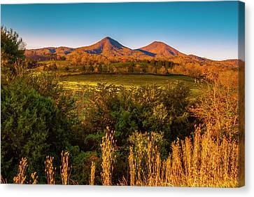 Canvas Print featuring the photograph Blue Ridge Fall by Steven Ainsworth