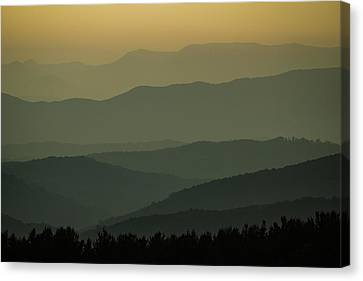 Blue Ridge Layers Canvas Print