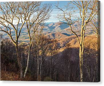 Canvas Print featuring the photograph Blue Ridge Longshadows by Carl Amoth
