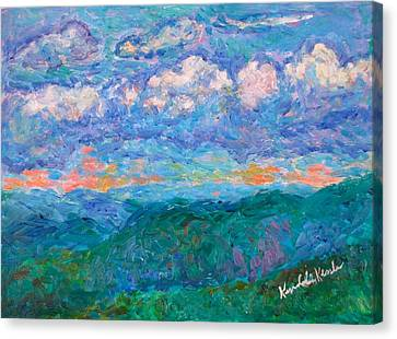 Blue Ridge Magic From Sharp Top Stage One Canvas Print by Kendall Kessler